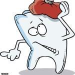 Зуб с холодной грелкой