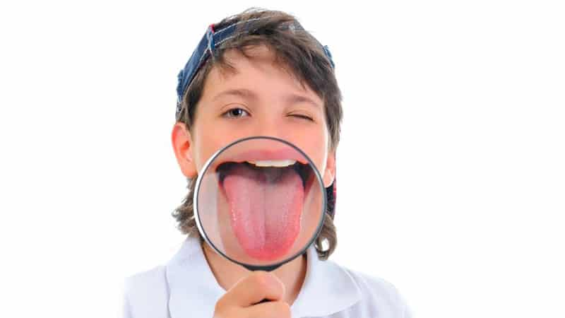 Если у ребенка синий язык фото