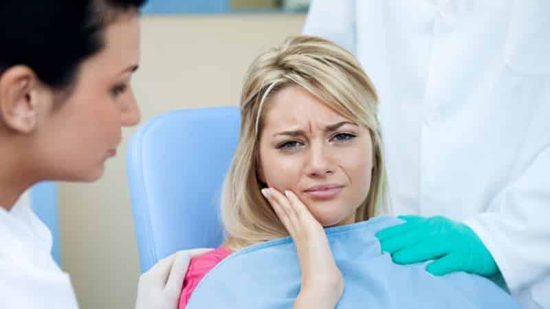 зубная боль при нажатии на зуб