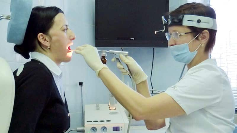 санация небных миндалин аппаратом тонзиллор