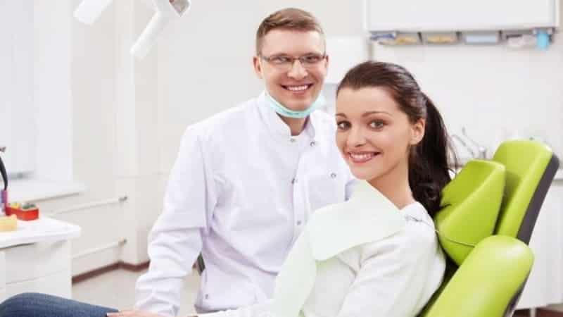 скол эмали зуба