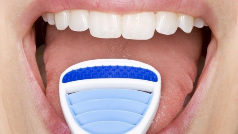 Щетка для чистки языка от налета